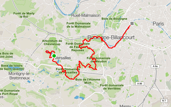 EcoTrail de Paris Map