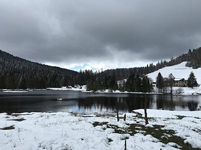 View of the first lake, Lac de Lispach.