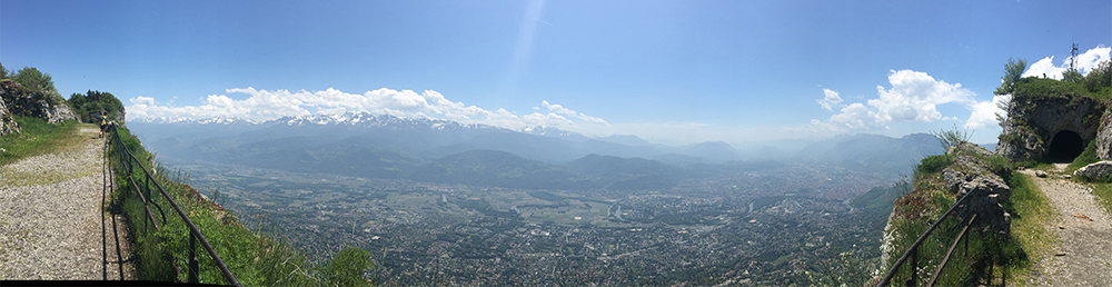 Hike in Grenoble. Ridge Line