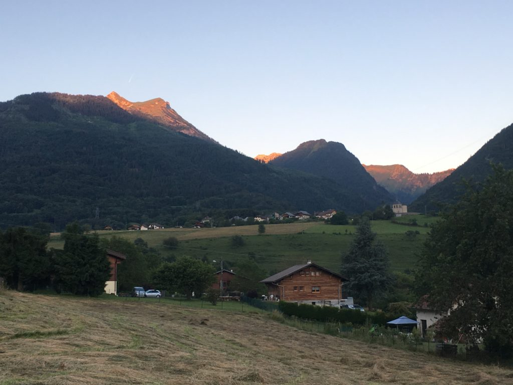 Morning of the race day. Trail de Faverges