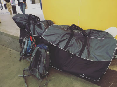 Bike storage bags.