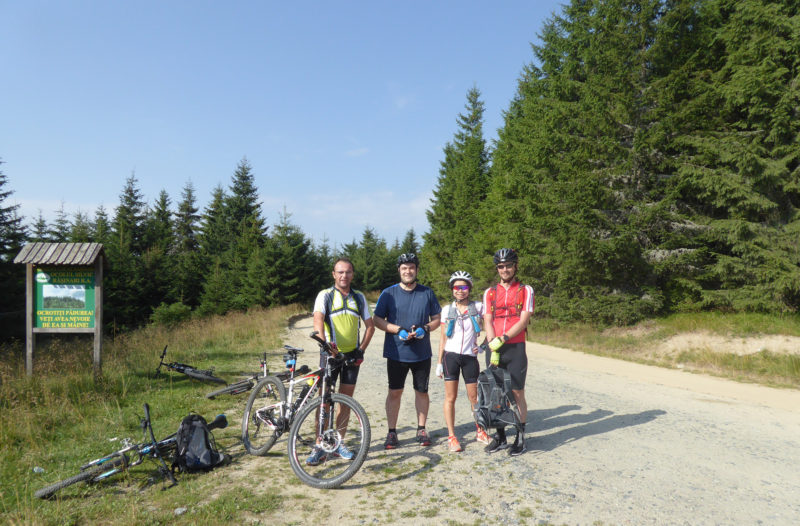 4 Musketeers. En route to Cabana from Sibiu.