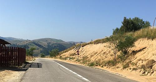 Sebes to Sibiu. Top of Jina climb.
