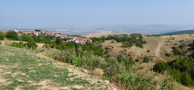 Discover Romania by Cycling. View of Poiana Sibiuliu.