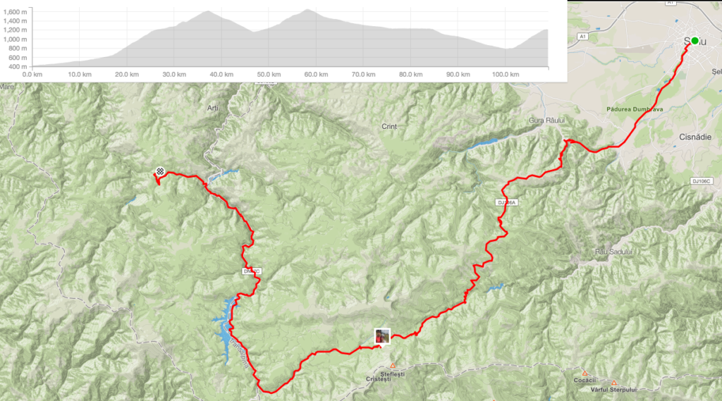 Strava. Profile of Sibiu to Cabana