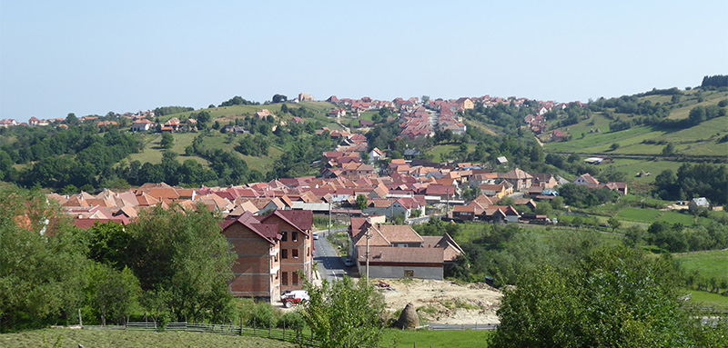 Discover Romania by Cycling. View of Jina