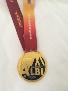 Albi Marathon finisher medal