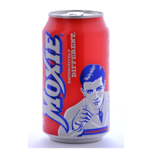 Moxie Original Elixir Soda 12oz Cans. Source: Beverages Direct
