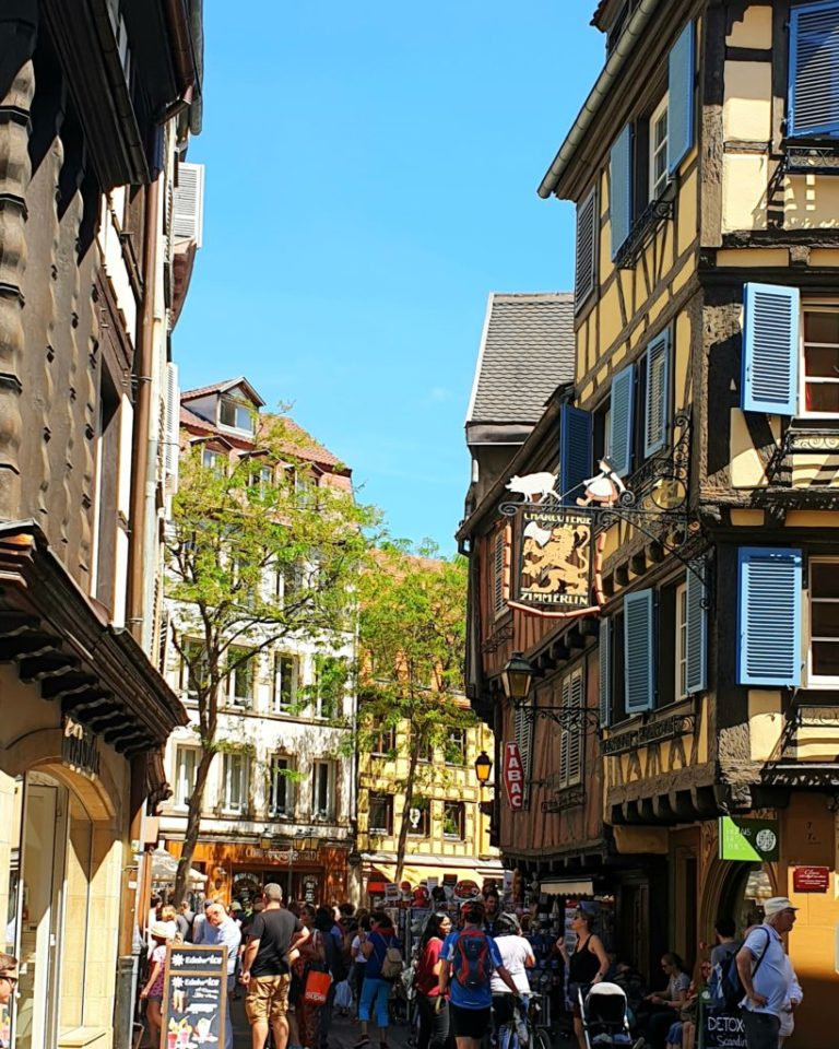Everyone is out on the streets of Colmar.
